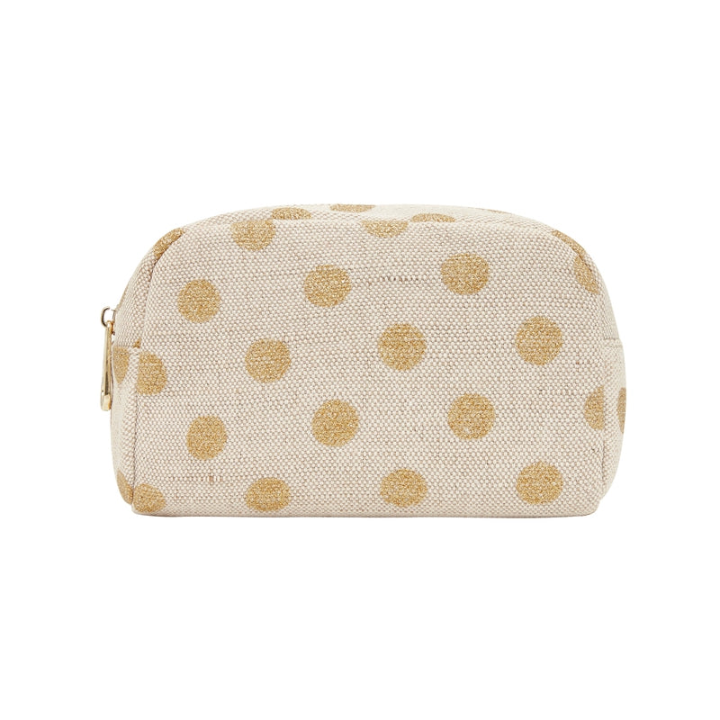 Elms & King Small Cosmetics Bag (Gold Spots)