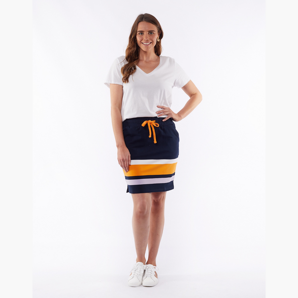 Elm Illusion Stripe Skirt