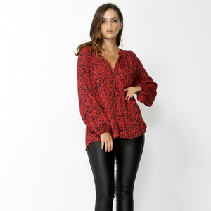 Fate + Becker Strong Enough Leopard Top