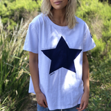 Hammill & Co Navy Star Tee (White)
