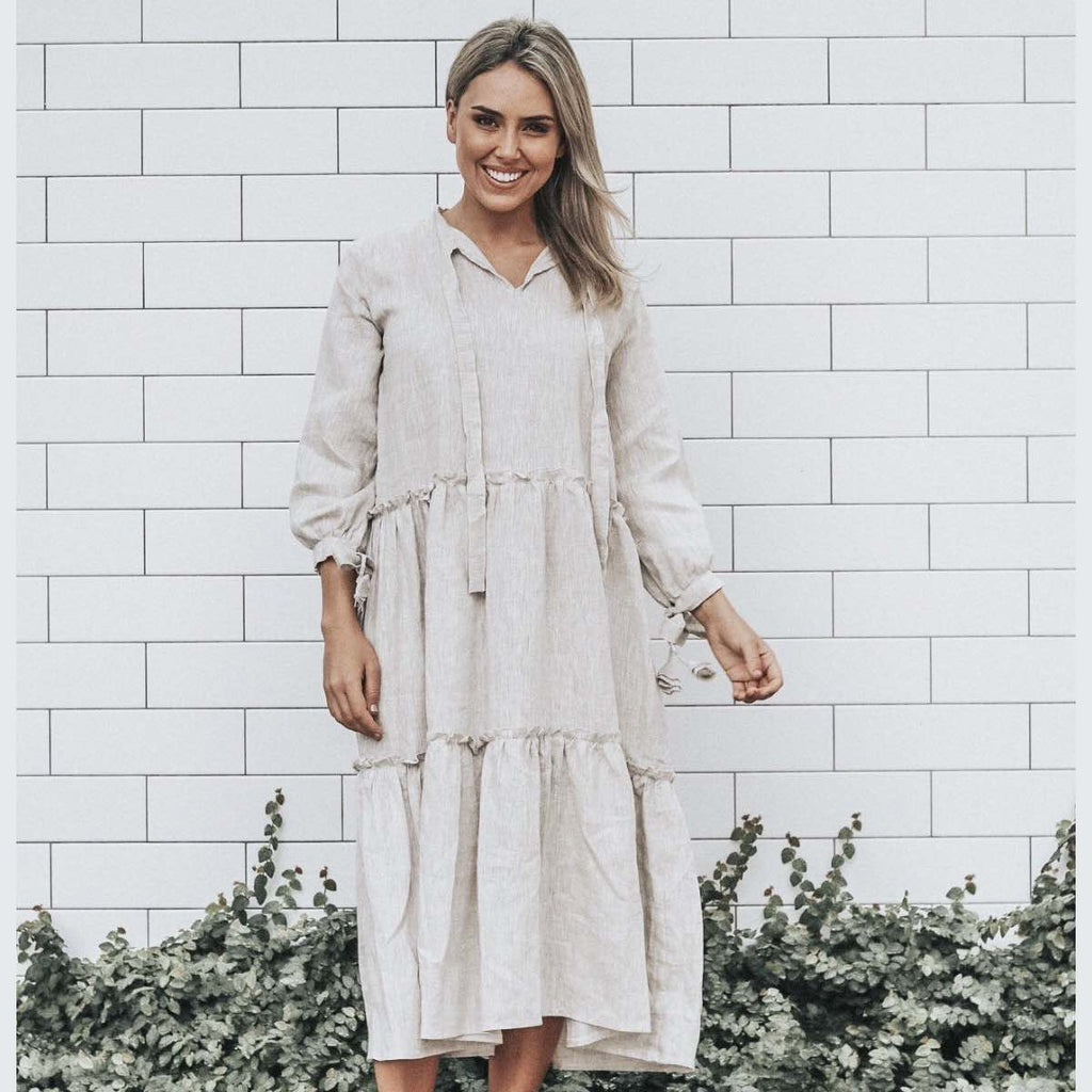 Bellagio Linen Dress (Sand)