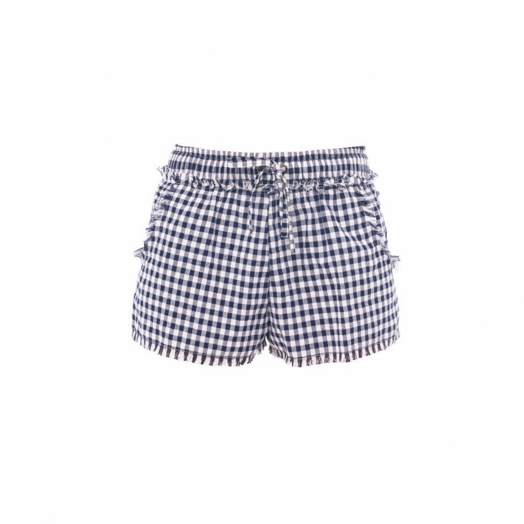 Gingham Fringe Shorts