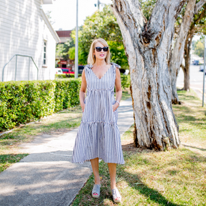 Ostuni Linen Dress (Stripe)