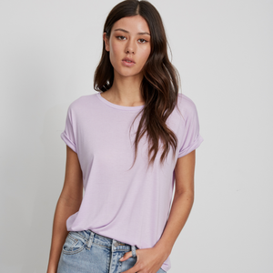 Essentials Roll Sleeve Tee (Lilac)