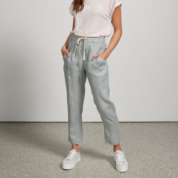 Luxe Linen Pants (Cool Mint)