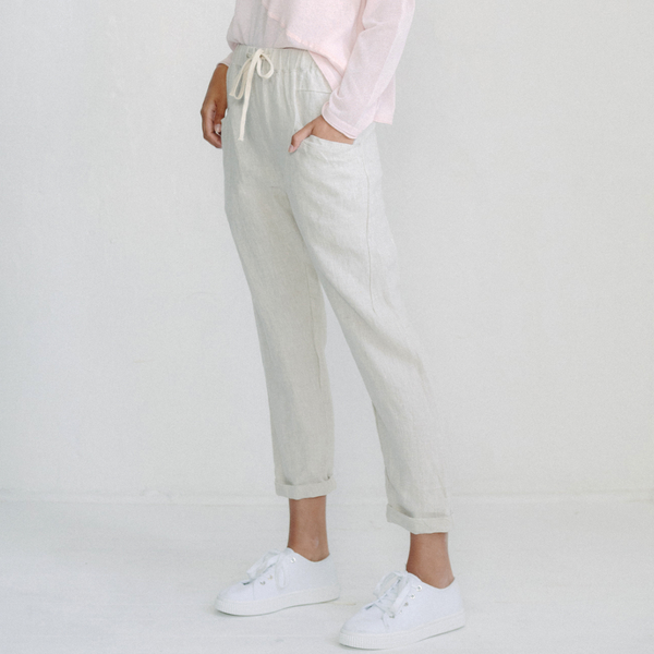 Luxe Linen Pants (Cream)