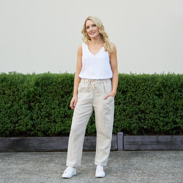 Luxe Linen Pants (Natural)