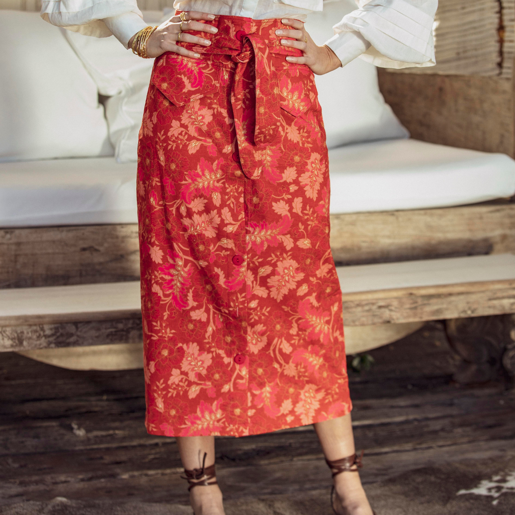 Ministry of Style Hibiscus Skirt