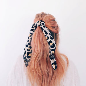 Leopard Hair Scarf (Natural)