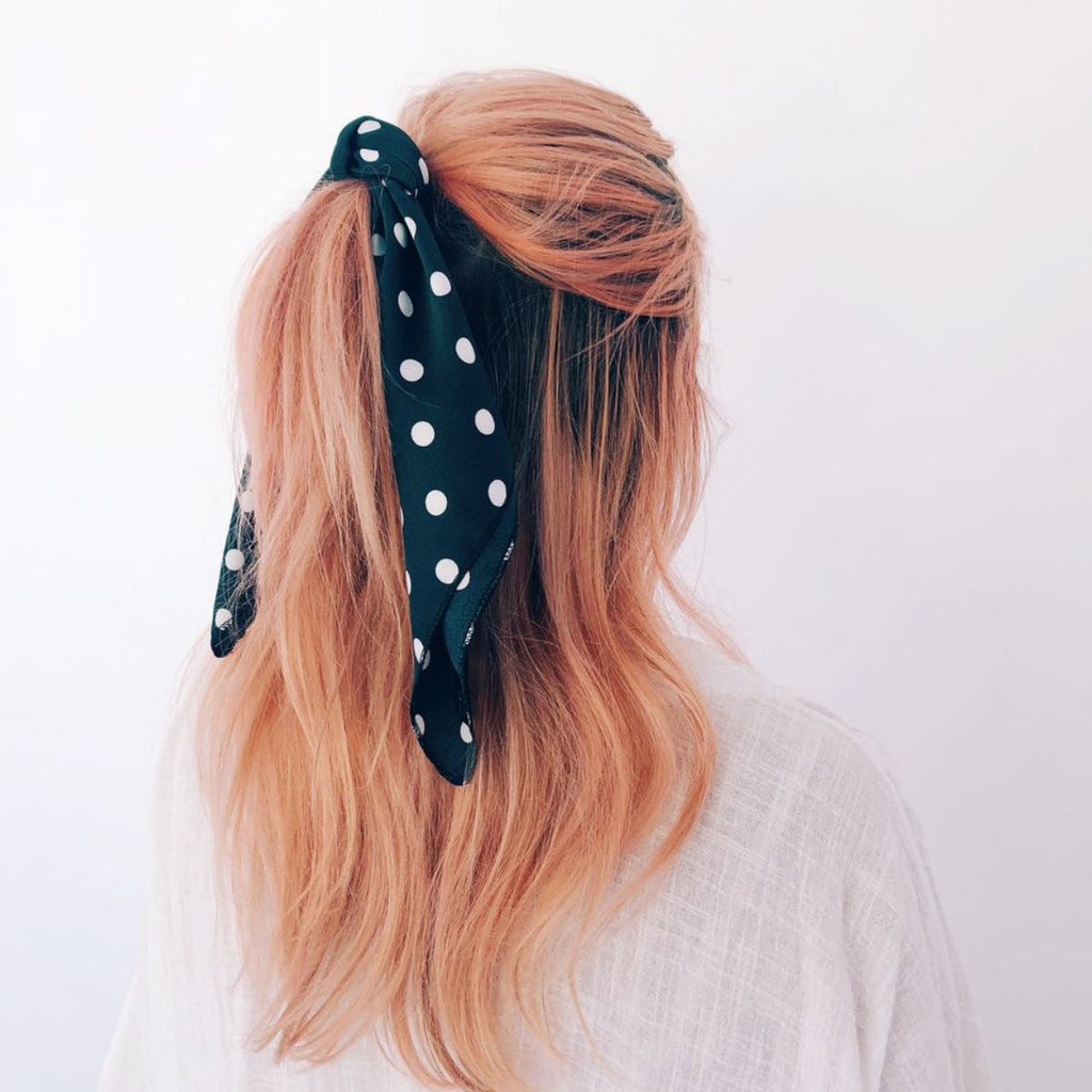 Spotted Hair Scarf (Emerald)