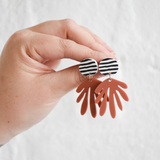Pink Nade Deanne Earrings (Stripe/Terracotta)