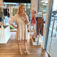 Kayla Linen Dress (Rose Floral)