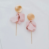 Esta Hanging Flower Earrings (Blush)