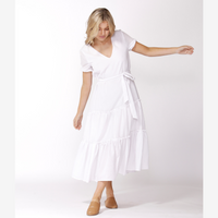 Sass Aurora Midi Dress (White)