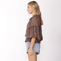 Sass Boho Top (Chocolate)