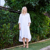 Rove Shirt Dress (White)
