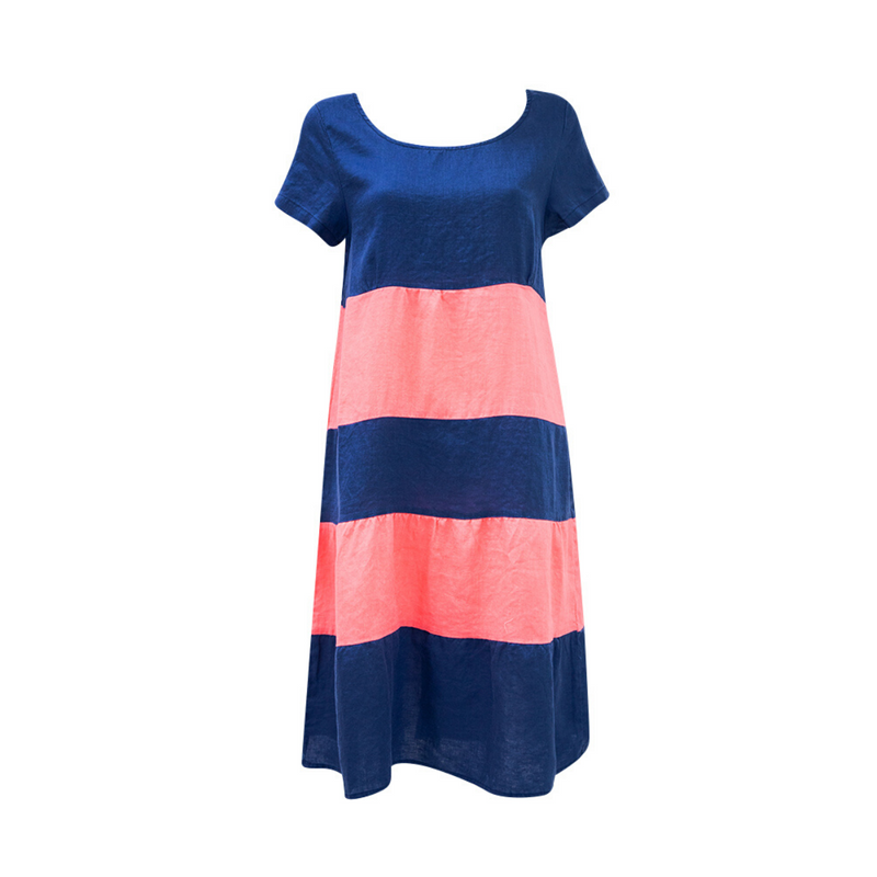 Amelia Splice Dress (Navy)