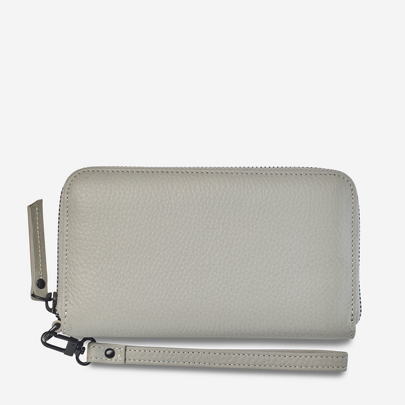 Status Anxiety Moving On Leather Wallet (Light Grey)