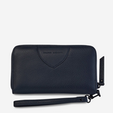 Status Anxiety Moving On Leather Wallet (Navy)