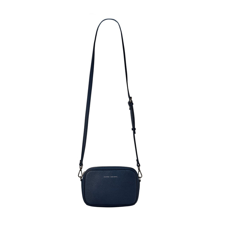 Status Anxiety Plunder Leather Bag (Navy)