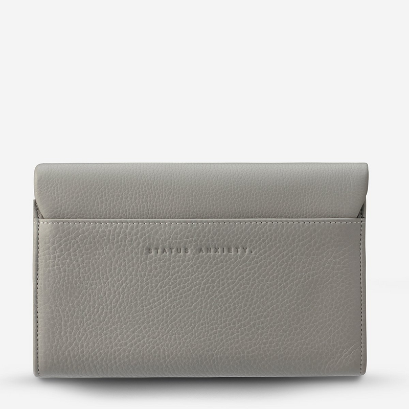 Status Anxiety Remnant Leather Wallet (Light Grey)
