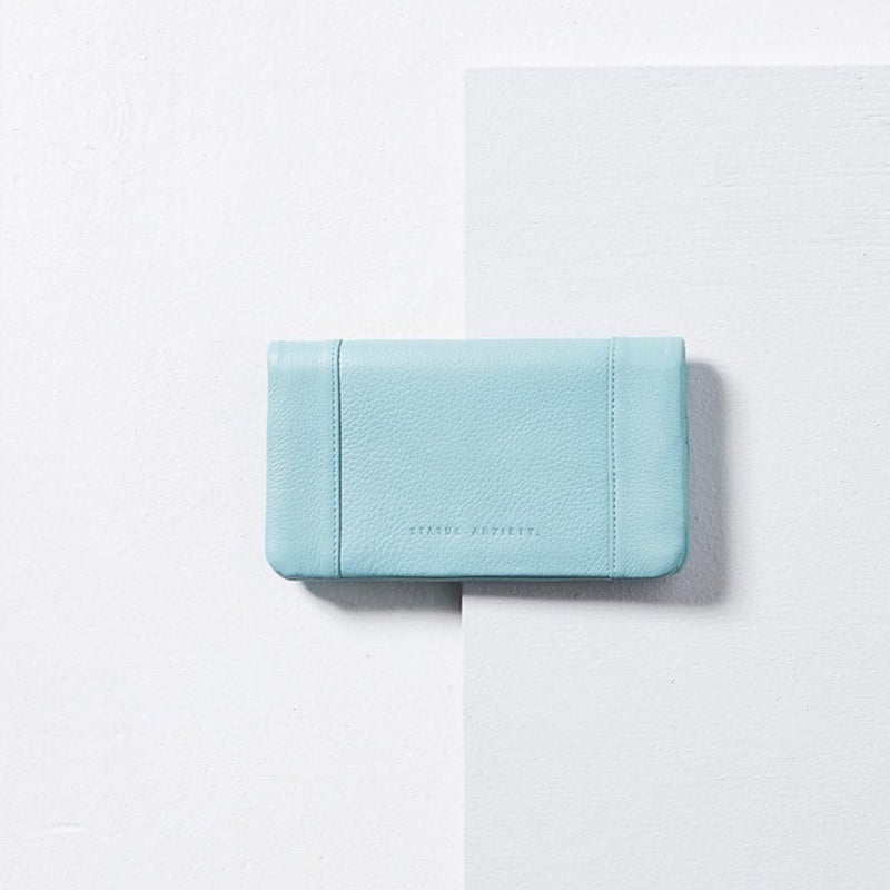 Status Anxiety Some Type Of Love Leather Wallet (Sky)