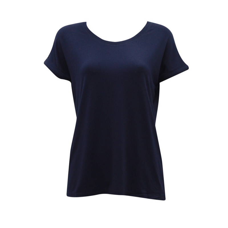 Basic Roll Sleeve Tee (Navy)