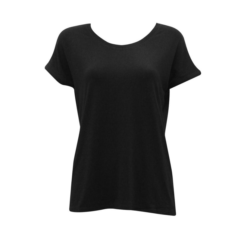 Basic Roll Sleeve Tee (Black)