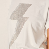 The Others Lighting Bolt Tee (White/Silver)