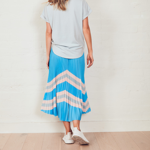 The Others Sunray Pleated Skirt (Blue Horizon)