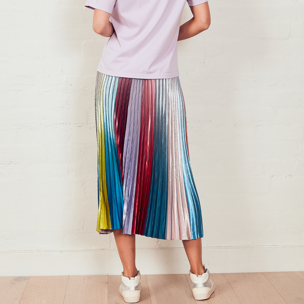 The Others Sunray Pleated Skirt (Ombre Rainbow)