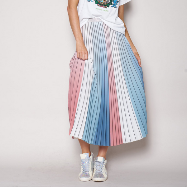 The Others Sunray Pleated Skirt (Pink/Blue/White)