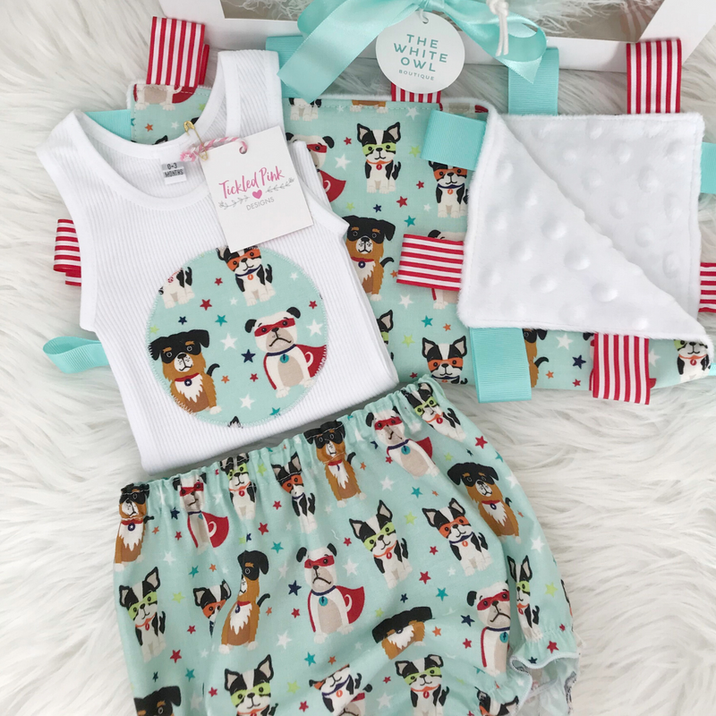 Tickled Pink Baby Gift Pack (Super Doggies)