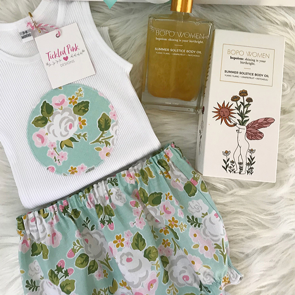 Tickled Pink New Mum & Bub Gift Pack (Aqua Floral)