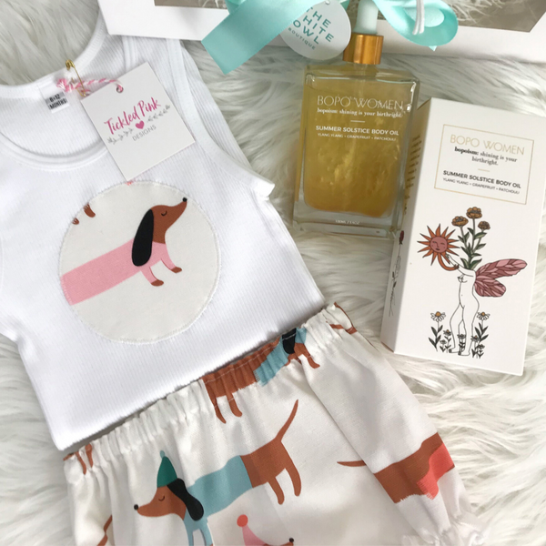 Tickled Pink New Mum & Bub Gift Pack (Puppy Love)