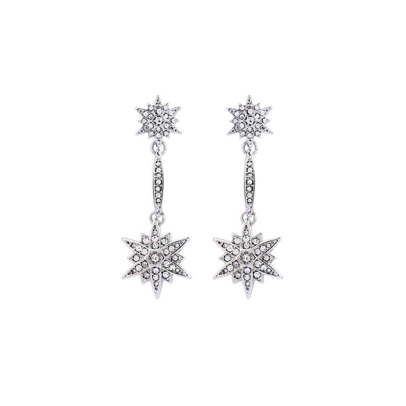 Wish Upon A Star Earrings (Silver)