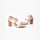 Walnut Havana Leather Heels (Blush)