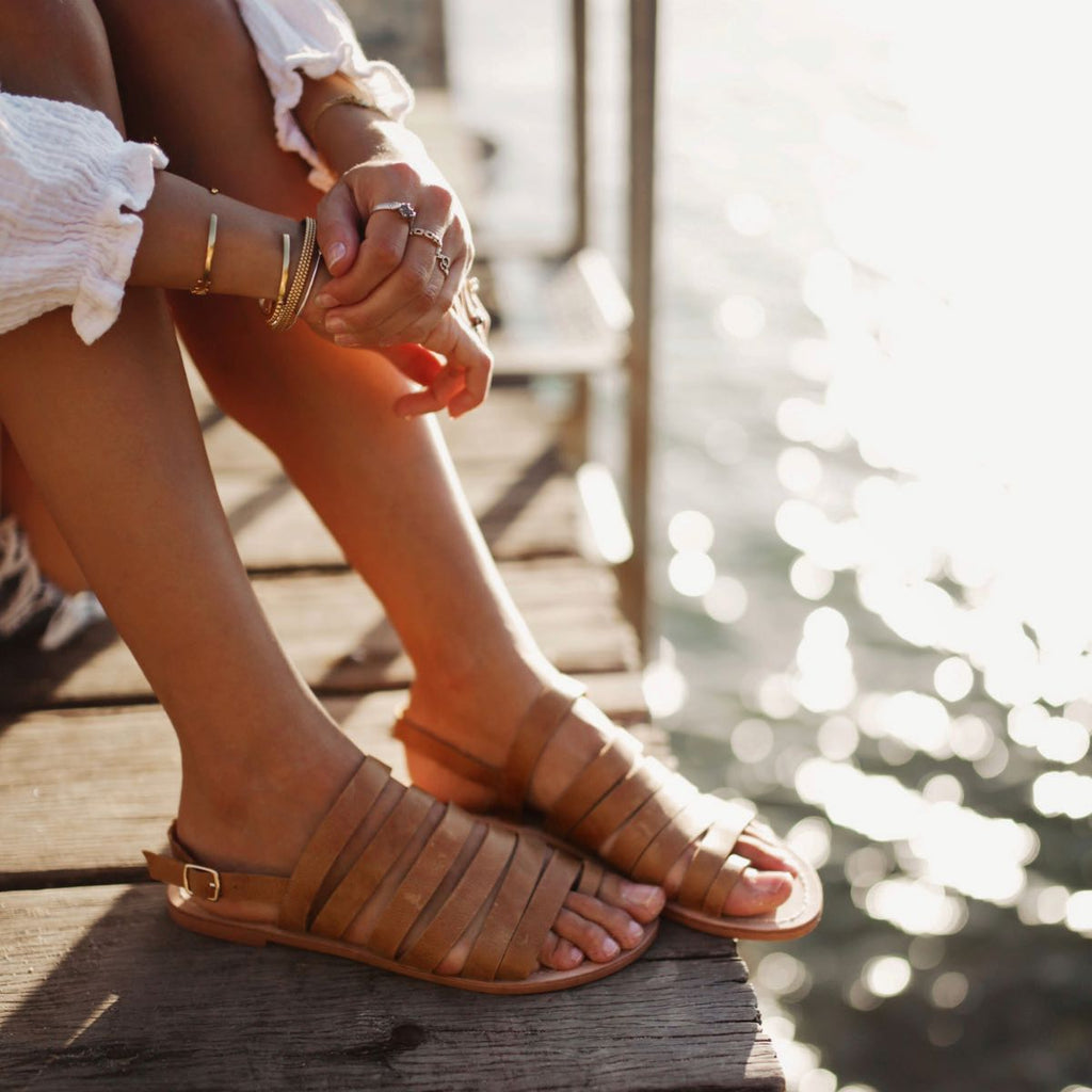 Walnut Sur Leather Sandal (Tan)