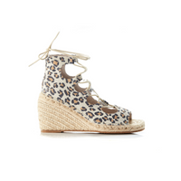 Walnut Vine Leather Wedge (Tan Leopard)