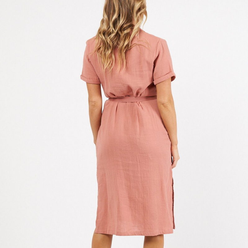 Lava Shirt Dress (Burnt Rose)