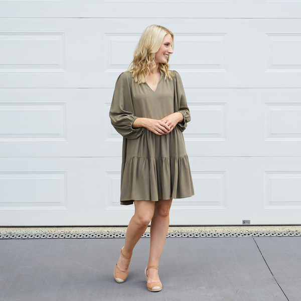 Nicolai Tiered Dress (Khaki)