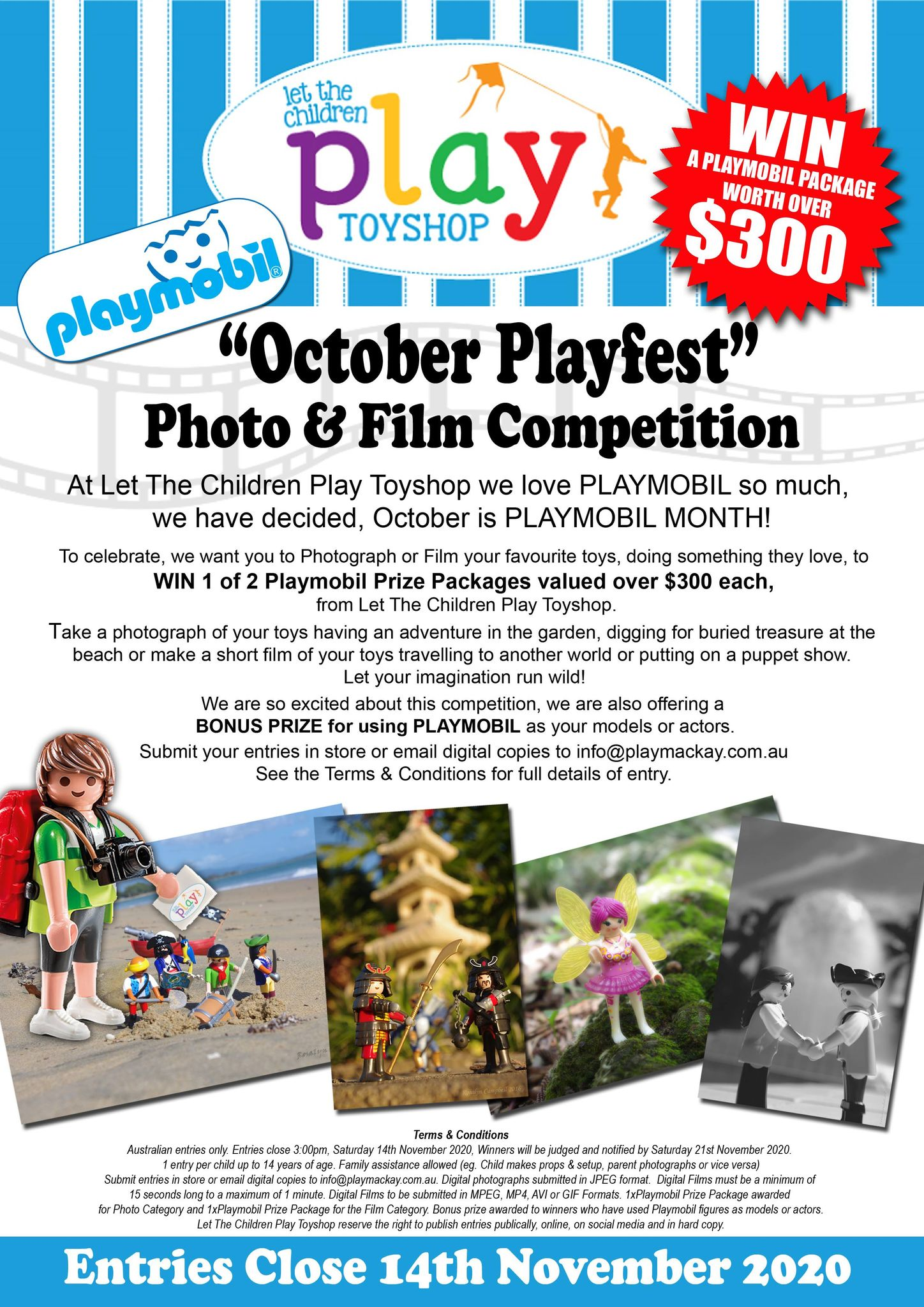 October Playfest Photo & Film Competition