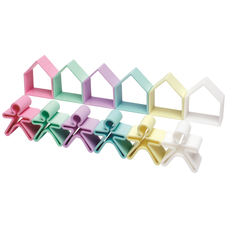Kid and House12pc Pastel - Dena Toys