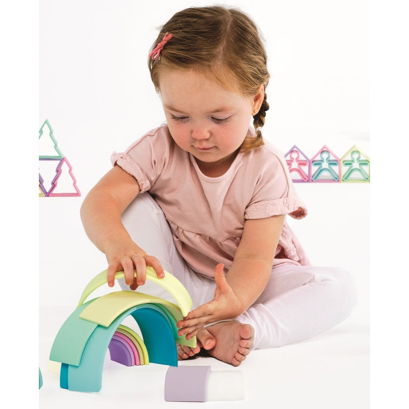 Rainbow 12pc Pastel - Dena Toys