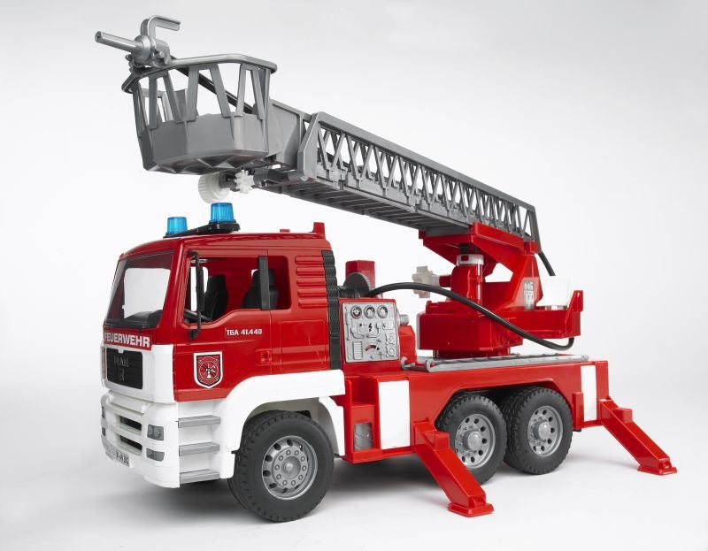 MAN TGA Fire Engine w/water pump lights & sound 1:16 - Bruder