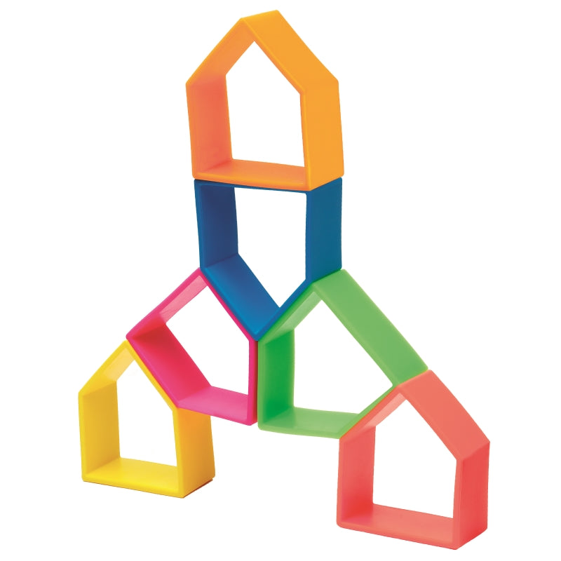 Kid and House 12pc Neon - Dena Toys