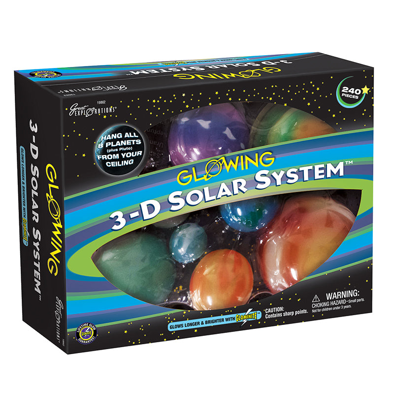 3-D Solar System Glowing