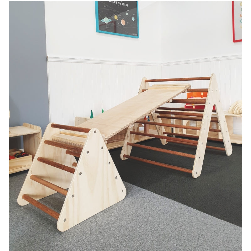 Pikler Triangles and Climing Ramp Package - The Wooden Toy Co