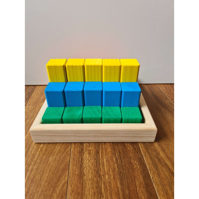Small Building Blocks 25 Piece Kit Colour - The Wooden Toy Co