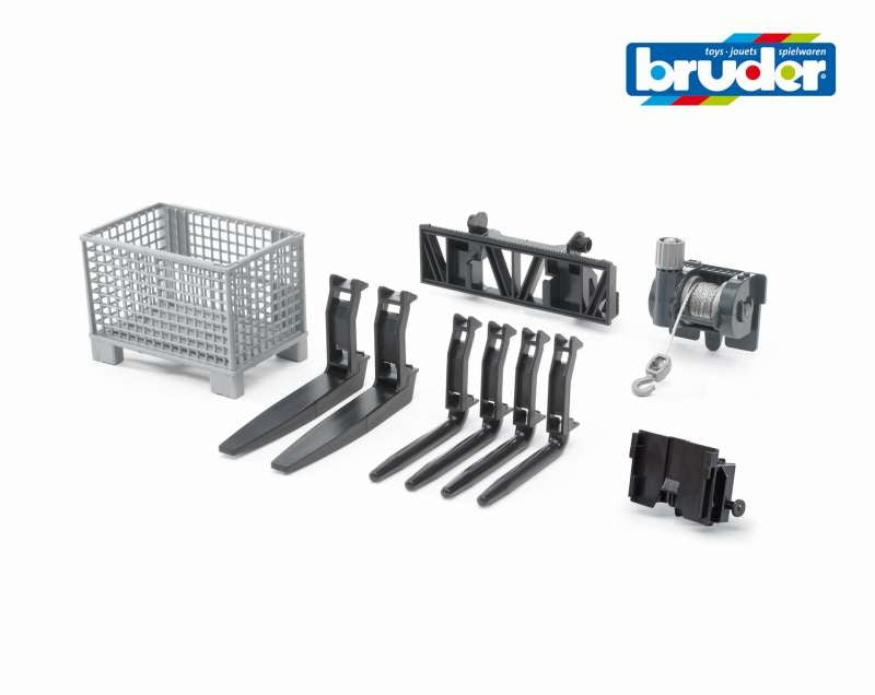 Cable Winch & Front Loader Forks - Bruder
